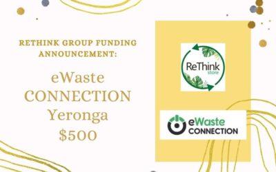 Rethink Group donates $500 to eWaste Connection Yeronga